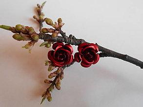 Náušnice - Náušnice - ruže - 9394040_