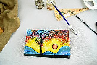 Peňaženky - Ručne maľovaná peňaženka s motívom Zima - 9390482_
