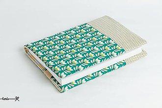 Papiernictvo - Obal na knihu otvárací - tulipány (s béžovou) - 9390787_