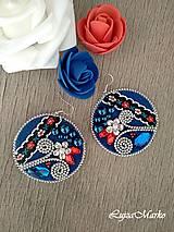Náušnice - Folk kruhy náušnice - 9393445_
