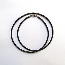 Suroviny - Guľatá kožená šnúrka čierna 2,5mm - 52cm - 9391763_