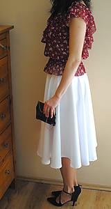 Sukne - Biela kruhová sukňa - 9390962_