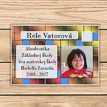 Papiernictvo - Absolventská menovka štvorčeky - 9392795_
