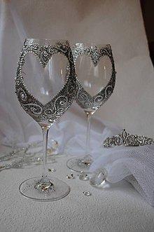 Nádoby - Svadobné poháre - 9396522_