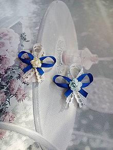 Pierka - Pierka malé kráľovská modrá - 9395129_