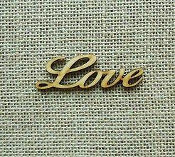 Polotovary - Výrez z preglejky - Love, 8 cm - 9395134_