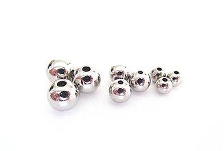 Korálky - Korálky - kovový vzhľad, 8 mm /10ks - 9396283_
