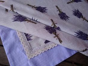 Úžitkový textil - Obrus levanduľa - 9394944_
