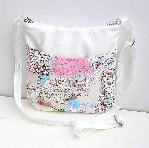 b766829305 Výpredaj Biela kabelka Paríž   zu - SAShE.sk - Handmade Kabelky