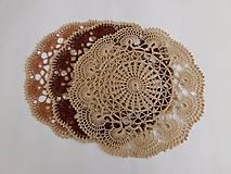 Úžitkový textil - Okrúhle háčkované dečky - 9396679_