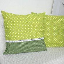Úžitkový textil - Dekoračné vankúše (Zelená) - 9397119_