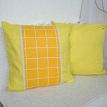 Úžitkový textil - Dekoračné vankúše (Žltá) - 9397128_