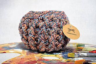 Košíky - Buřtíkatý dekorační košík MELANGE 13,5×10,5 cm - 9395051_
