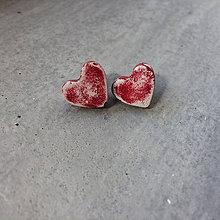 Náušnice - Betónky Hearts Art 02 (srdce) - 9395444_