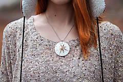 Náhrdelníky - Sluneční čas (náhrdelník se zlatem) - 9397255_