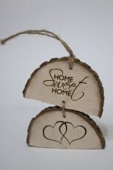 Dekorácie - Drevený nápis Home Sweet Home - 9395639_