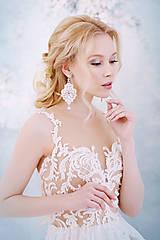 Náušnice - Svadba 2018 - Svadobné náušnice s čipkou - 9396006_