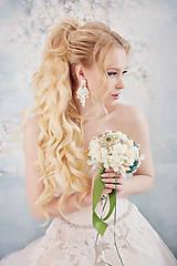 Náušnice - Svadba 2018 - šujtášové náušnice - 9396030_