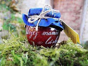 Drobnosti - Gravírovaný pohárik, ríbezľový džem, pre mamičku - 9399111_