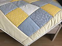 Úžitkový textil - Prehoz žlto - šedá kombinácia - 9398340_