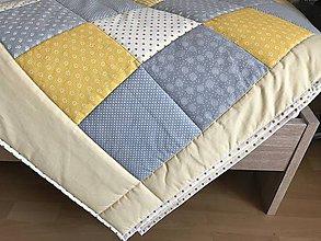 Úžitkový textil - Prehoz žlto - šedá kombinácia - 9398339_