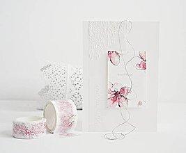 Papiernictvo - Narodeninový pozdrav - akvarelové kvety IV - 9397515_