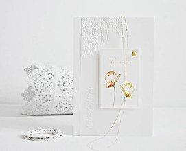 Papiernictvo - Narodeninový pozdrav - akvarelové kvety II - 9397528_