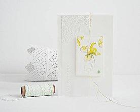 Papiernictvo - Narodeninový pozdrav - akvarelové kvety I - 9397545_