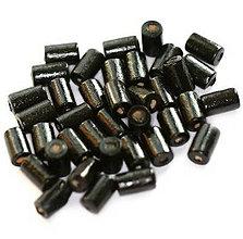 Korálky - Čierne drevené valčeky 10x6mm - 9399018_