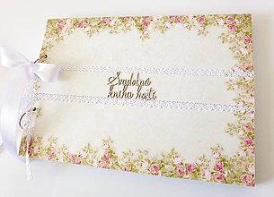 Papiernictvo - svadobná kniha hostí - 9398453_