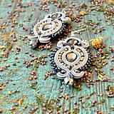Náušnice - Hematite Gray- sutaškové náušnice - 9399649_