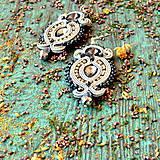 Náušnice - Hematite Gray- sutaškové náušnice - 9399650_