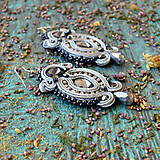 Náušnice - Hematite Gray- sutaškové náušnice - 9399652_