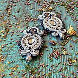 Náušnice - Hematite Gray- sutaškové náušnice - 9399654_