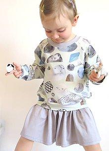 Detské oblečenie - mikinové šaty z biobavlny Kamene - 9400417_