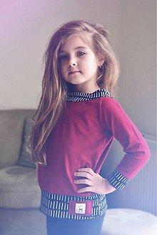 Detské oblečenie - Jarná rastúca mikina (Červená) - 9397328_