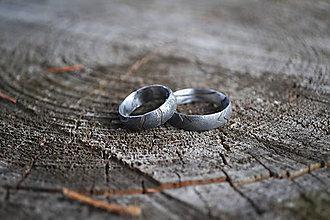 Prstene - Damaškové obrúčky Letokruhy - 9397614_