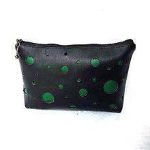 Taštičky - Kozmetická taštička - guľky zelené - 9397956_