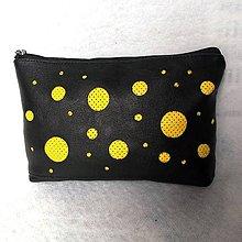 Taštičky - Kozmetická taštička - guľky žlté - 9397959_
