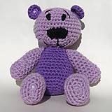 Hračky - Medvedík na kabelku fialový - 9399141_