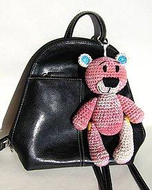 Hračky - Medvedík na kabelku ružový - 9399170_