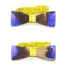 Doplnky - Dreveno-živicový motýlik Chenya - 9397612_