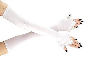 Rukavice - Rukavičky bielé svadobné pre nevestu 01a - 9399093_