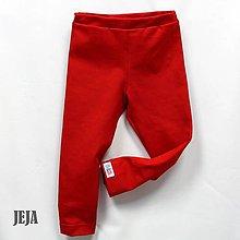 Detské oblečenie - Červené legíny - 9398217_