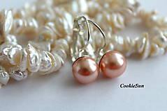 - Náušnice Swarovski Pearls (Rose Peach) - 9399032_