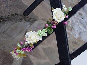 Ozdoby do vlasov - Jemnučký kvetinový venček - 9398842_