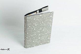 Papiernictvo - Obal na knihu otvárací - súhvezdia - 9398225_