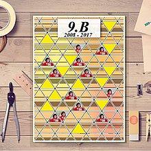 Nezaradené - Absolventská linajková podložka pásiky (trojuholníky) - 9397677_