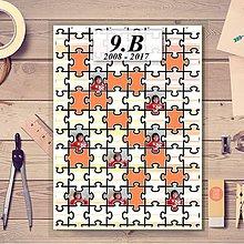 Nezaradené - Absolventská linajková podložka pásiky (puzzle) - 9397678_