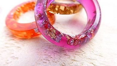 Prstene - Živicový prsteň - 9403409_
